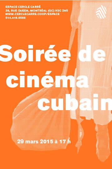 Carton soirée de cinéma cubain